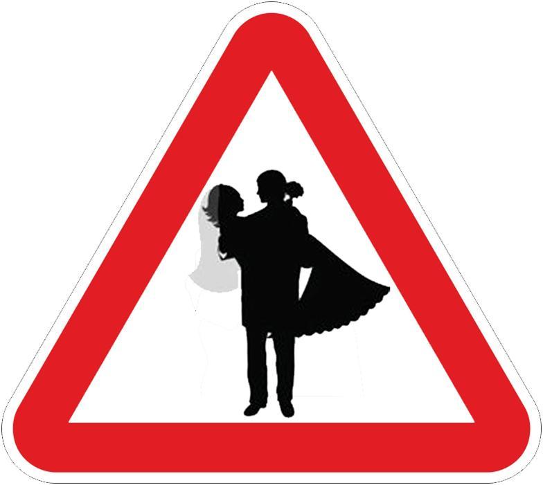 Дорожные знаки для свадьбы с картинками