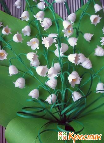 Ландыши цветы из бумаги