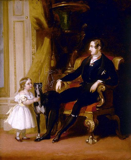 Принц Альберт и дочь Виктория