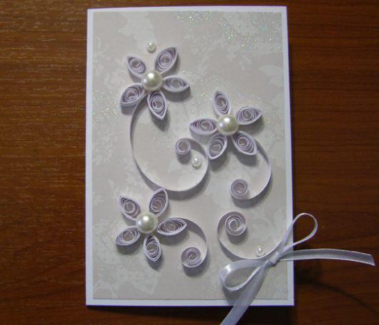 Как сделать своими рука открытку на свадьбу