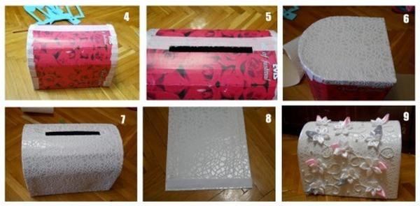 Как сделать копилку из коробки фото