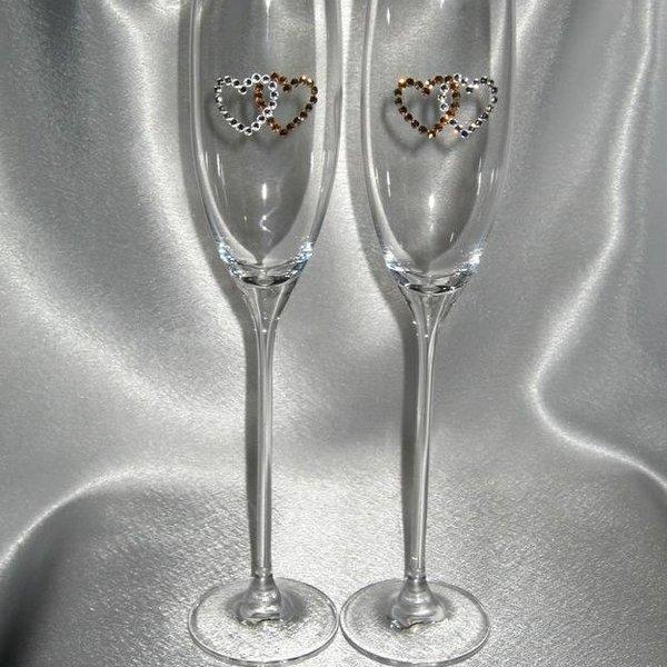 Свадебные бокалы фото стразами